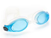 Swimming goggles. Isolated on the white background royalty free stock image