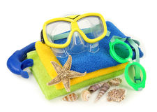 Swimming goggles and diving mask Royalty Free Stock Photography