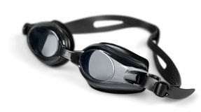 Swimming Goggles. Swimming Isolated Equipment Sport Personal Accessory White stock photo