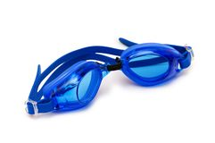 Swimming goggles isolated on the white background. Swimming  goggles isolated on the white background Stock Photo