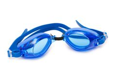 Swimming goggles isolated on the white background royalty free stock photo