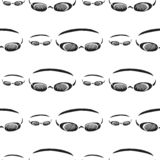 Swimming goggles vector seamless pattern stock photos