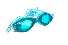 Swimming goggles. On white background royalty free stock image