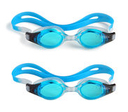 Swimming Goggles on White Stock Photos