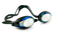 Swimming googles isolated over white close up Royalty Free Stock Photos