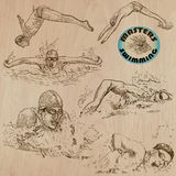 Swimming - hand drawn vector pack Royalty Free Stock Photography