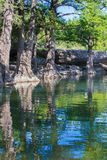 A swimming hole in central Texas Royalty Free Stock Photography