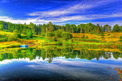 Swimming hole HDR. Cool refreshing swimming hole on a hot summers day HDR royalty free stock photos