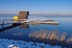 Swimming house in winter Stock Image