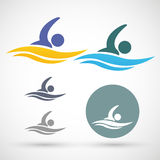 Swimming icon Stock Image