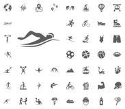 Swimming icon. Sport illustration vector set icons. Set of 48 sport icons. Swimming icon. Sport illustration vector set icons. Set of 48 sport icons Stock Image
