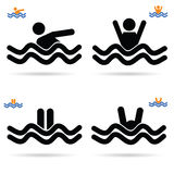 Swimming icon vector Royalty Free Stock Images