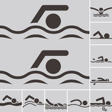 Swimming icons Stock Image