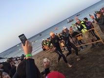 Swimming. Ironman Lanzarote swim exit Stock Photography