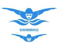 Swimming stock illustration