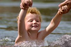 Swimming Kid Royalty Free Stock Images