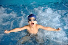 Swimming kid Stock Photography