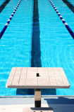 Swimming lane and start block Stock Photography