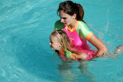Swimming lesson Stock Image