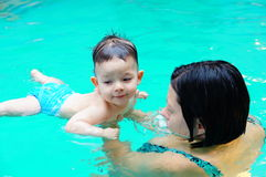 Swimming lesson Royalty Free Stock Photo