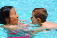 Swimming Lesson Six Stock Photo