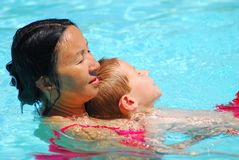 Swimming Lesson Two Stock Photo