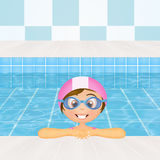 Swimming lessons for children Royalty Free Stock Photos