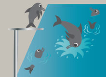Swimming lessons 2 Royalty Free Stock Photos