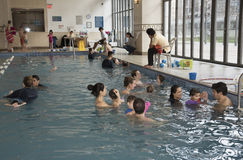 Swimming lessons New York USA Stock Photos