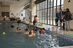 Swimming lessons New York USA Royalty Free Stock Image