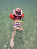 Swimming little child Stock Images