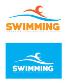 Swimming logo. Abstract swimming logo icon set Stock Images