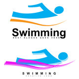 Swimming logo Stock Photo