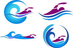 Swimming logos Stock Photography