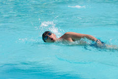Swimming man. Swimming young man (the crawl Stock Photography