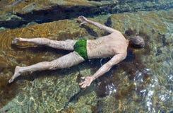 Swimming man 4 Royalty Free Stock Photos