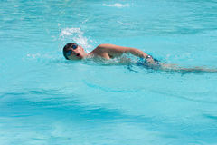 Swimming man Stock Photography