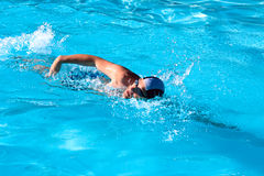 Swimming man Royalty Free Stock Photo