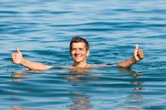 Swimming man Royalty Free Stock Photo