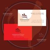 Swimming man business card logo. Symbol icon vector illustration