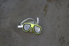 Swimming mask. Underwater diving mask stock images