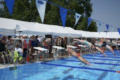 Free Swimming Meet At Pasco Memorial Aquatic Park Stock Images - 150650774