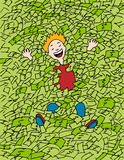 Swimming in Money vector illustration