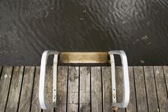 Swimming pier on lake royalty free stock photography