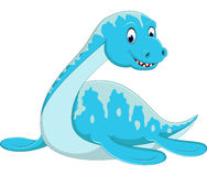 Swimming Plesiosaurus cartoon Stock Image