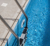 Swimming poll ladder Royalty Free Stock Photos