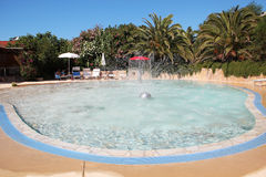 Swimming poo. Outdoor swimming pool with warm water for children in the hotel Royalty Free Stock Image