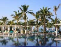 Swimming pool. Tropical resort swimming pool, Mexico Stock Photos