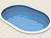 Swimming pool. 3d model of the swimming pool Stock Photography