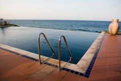 Swimming pool. Outdoors Spa swimmingpool. Tropical resort hotel Stock Image